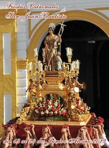 Portada de la revista de las fiestas patronales. / Foto: Hdad. San Juan Bautista Alosno.