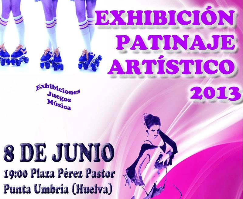 Cartel de la exhibición de pantinaje artístico.
