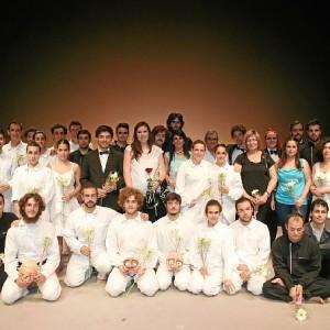 Actores y familiares de Juan Moreno.