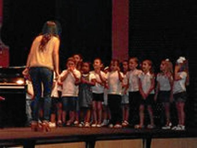 Actuación del Aula Infantil durante la pasada edición.