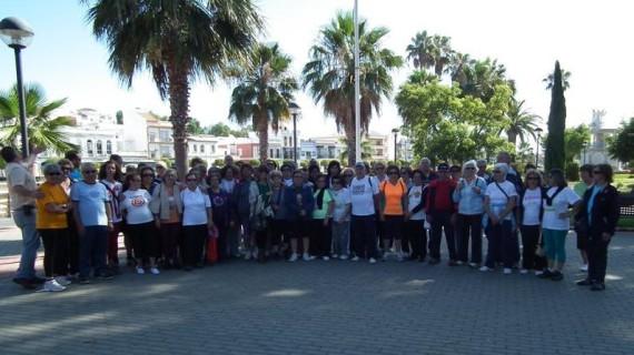 Unos 120 mayores de la Eurociudad del Guadiana disfrutan de una jornada de convivencia
