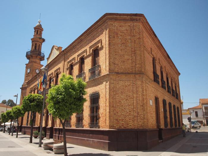 Fachada del Ayuntamiento de Nerva.