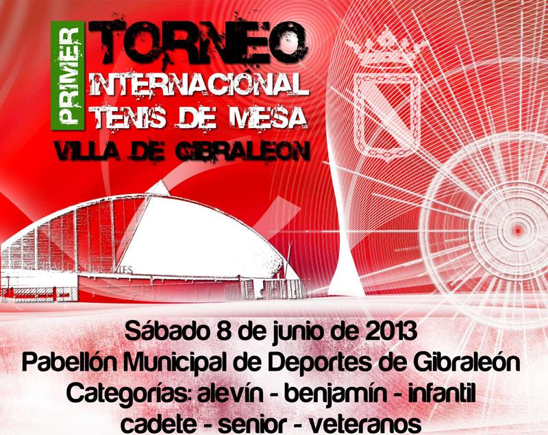 I Torneo Internacional de Tenis de Mesa 'Villa de Gibraleón' se disputa el sábado 8 de junio