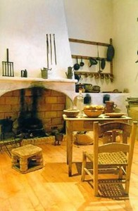 Detalle del interior del actual Museo Etnográfico creado en la Casa Dirección.