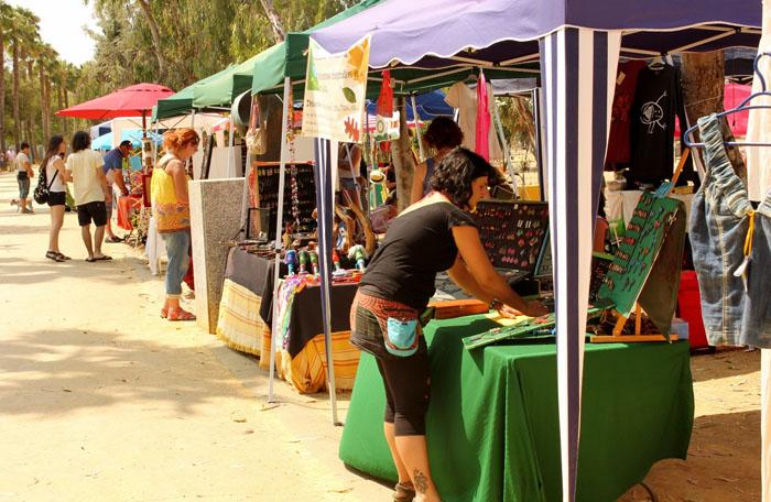 El Parque acoge también un mercadillo durante la Fiesta de la Rebeldía.