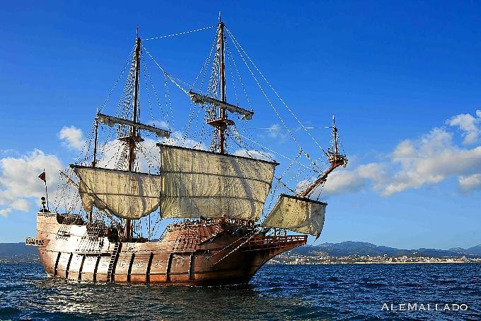 El barco posee la misma estructura que los galeones españoles del siglo XVII.