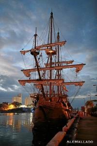 El Galeón pudo ser visitados en los puertos en los que atracó.