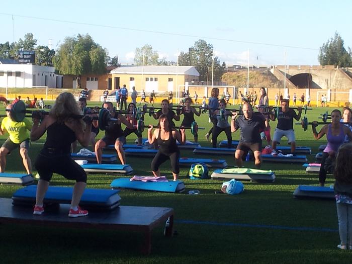 El fitness fue otra de las actividades en las que compitieron los participantes.