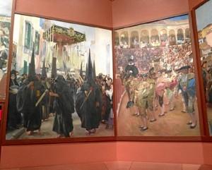 Sorolla recogió en esta serie numerosas escenas típicas andaluzas.