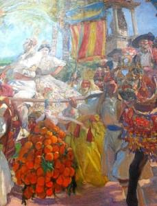 Valencia, las grupas. 1916.