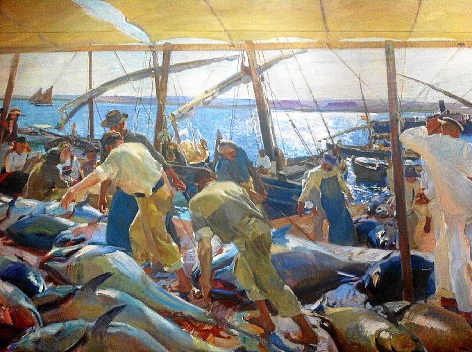 'La pesca del atún' de Sorolla, pintado en Ayamonte.