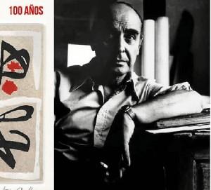 Cartel actos del centenario del nacimiento del pintor organizados por el IES que lleva el nombre del pintor.