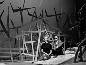 María Fernanda y José Caballero, en el escenario de Bodas de Sangre. / Foto: josecaballero.info.