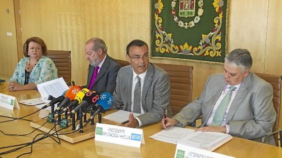 Las Diputaciones de Huelva, Sevilla, Jaén y Badajoz se reúnen para debatir sobre la Ley de Estabilidad Presupuestaria