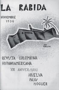 Portada Revista 'Rábida'. Noviembre 1930.