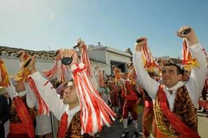 Danza de los Cascabeleros de Alosno. / Foto: Hdad. San Juan Bautista Alosno.