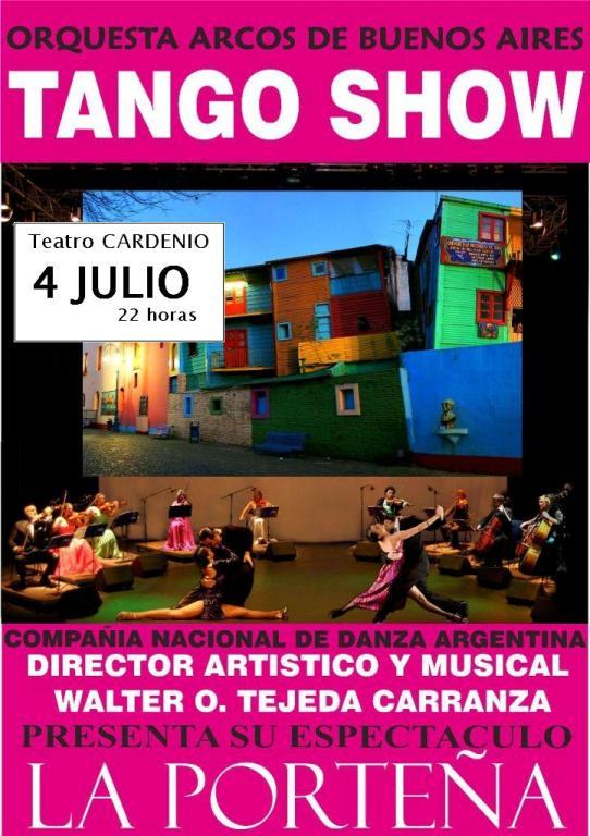 Cartel del Espectáculo 'La Porteña' en Ayamonte.