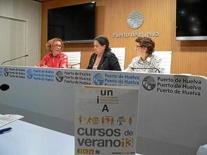 Yolanda Pelayo, Manuela de Paz y María de la O Barroso.