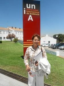 Elsa González ha participado en un Curso de Verano de la UNIA.