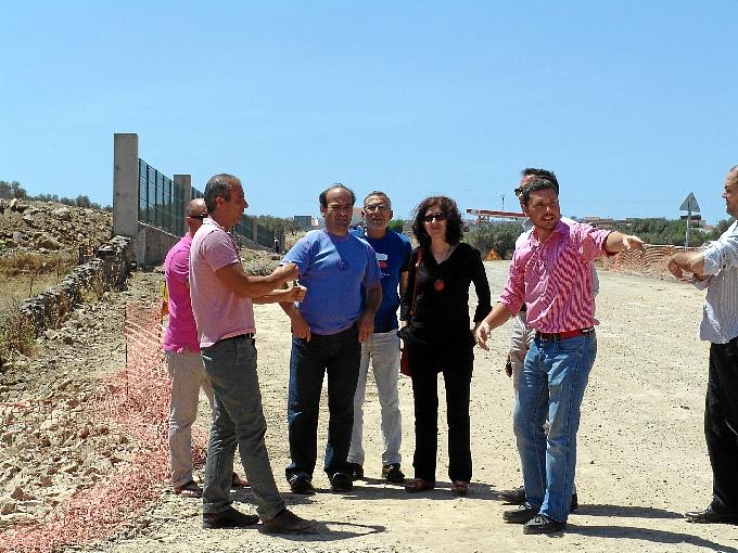 La delegada de Fomento y Vivienda ha visitado las obras.