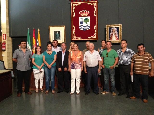 María Luisa Faneca con los empresarios que han presentado sus proyectos