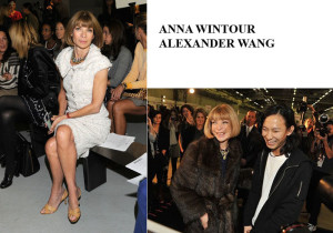 Anna Wintour y Alexander Wang.
