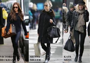 Victoria Beckhan, Sienna Miller y Kate Moss.