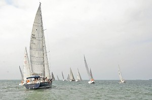 Los barcos participantes en la regata.