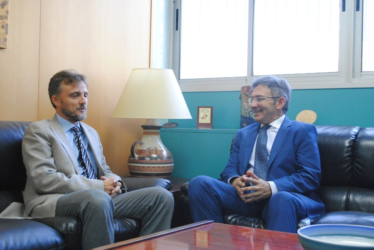 Francisco Ruiz y José Fiscal durante el encuentro entre ambos.