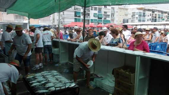 Punta Umbría celebra la tradicional sardinada en honor a la Virgen del Carmen