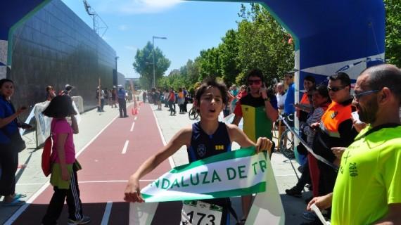 Los hermanos Adriana y Marcial González, campeones de Andalucía de duatlón y triatlón