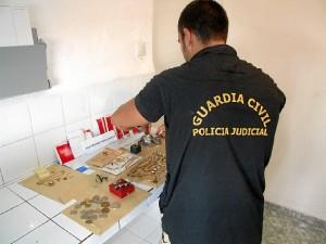 Joyas robadas y recuperadas por la Guardia Civil.