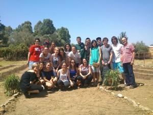 Los alumnos del Campo de Trabajo de la Puebla de Guzmán.