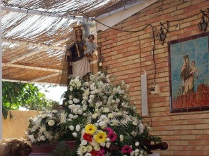 La Virgen del Carmen, en Mazagón.