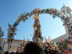 Procesión de la Virgen del Carmen en Punta Umbría.