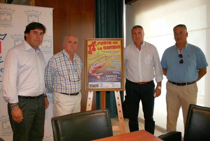 Presentación en Cartaya de la nueva edición de su Feria de la Gamba.