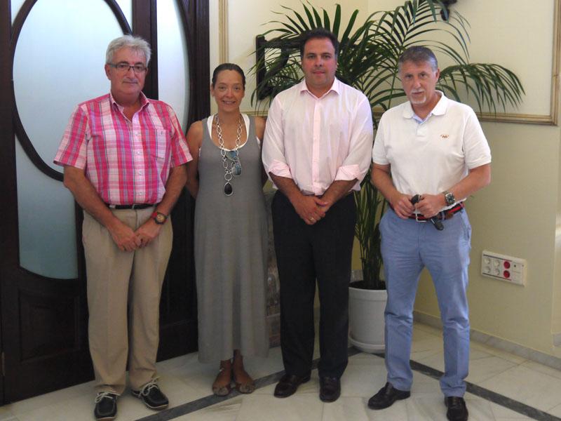 Representantes del Recre en San Juan