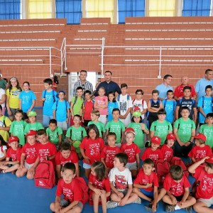 Niños participantes de los campamentos de verano en Moguer.