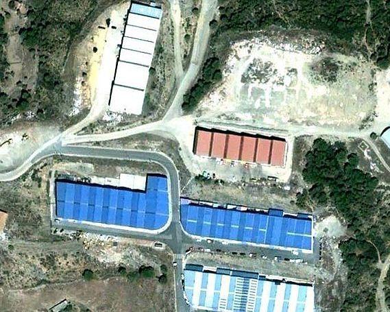 Poligono industrial 'El Peral' antes de finlizar su última fase. / Foto: nerva.mforos.com.