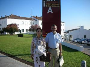 Elsa González y Rafael Terán, en La Rábida.