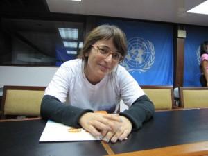 Paloma Martínez, en Naciones Unidas.