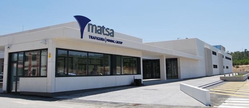 El nuevo edificio de Matsa en Almonaster la Real.