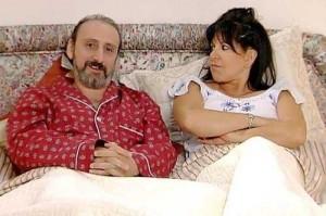 Con Loles León, que daba vida a la mujer de Juan Cuesta en 'Aquí no hay quien viva'. / Foto: www.facebook.com
