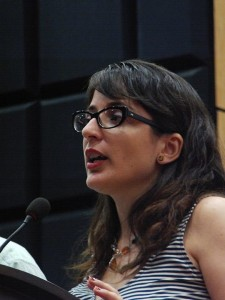 Paloma, como maestra de ceremonias.