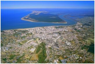 Vista aérea de la Comarca de Doñana.