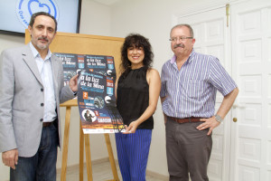 La diputada junto al alcalde y concejal de Cultura de Nerva.