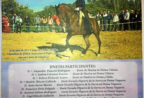 Exhibición ecuestre en Campofrío a beneficio de Andex