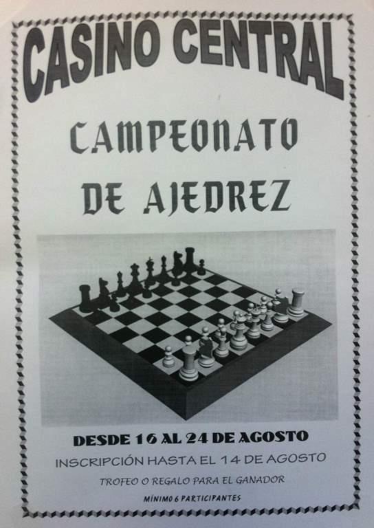 Torneo de Ajedrez en Jabugo con motivo de la conmemoración del 80 aniversario del Casino Central