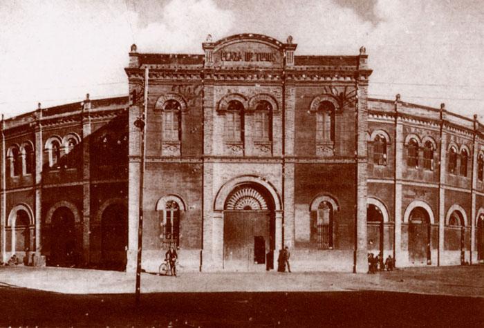 Fachada de la plaza de toros de La Merced./ Foto: rabida.uhu.es