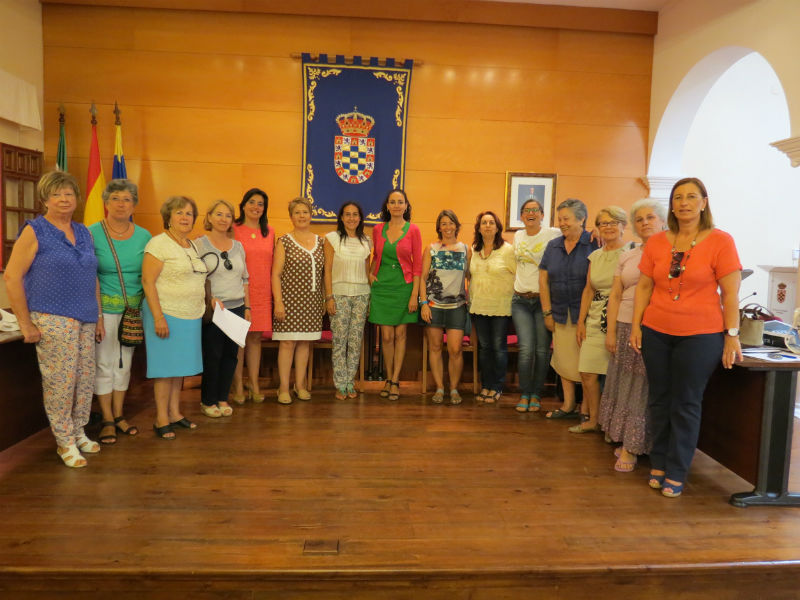 Un momento del encuentro de la mujer celebrado en Moguer.